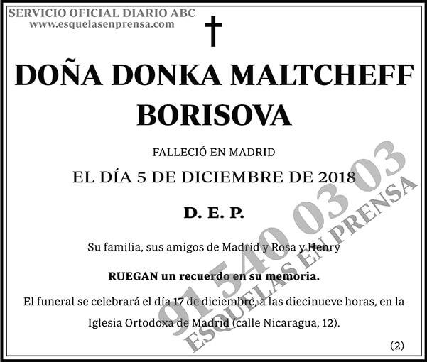 Donka Maltcheff Borisova